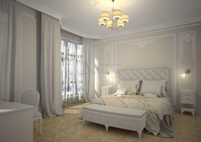 Интерьеры спальни с лепниной фото