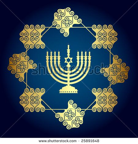 jewish candle   Jewish Candle Stock Vector 25891648 : Shutterstock