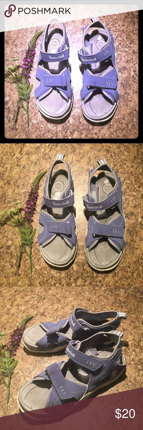 Timberland Lavender Hiking Sport Sandal Size 7 US Timberland- Lavender Purple - Size 7US- Sport Sandal. Great for outdoor summer play! These are sooo comfortable and nice ! Excellent condition. Smoke free home. Great bargain !! If your going on a trip these are a must have !! Great pair of kicks! Timberland Shoes Sandals