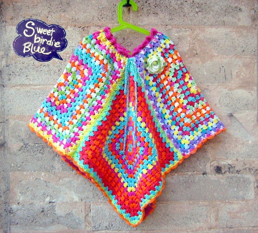 the 1970s ladies Poncho by sweetbirdieblue on Etsy, $110.00