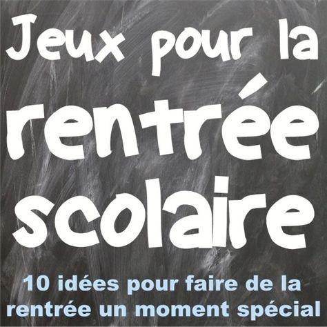 French Back-to-school Games: jeux pour la rentrée scolaire