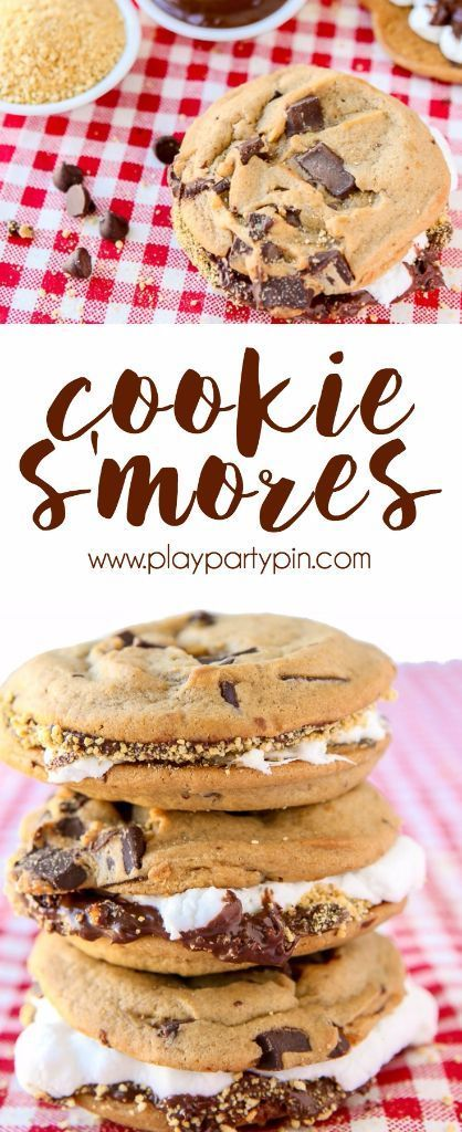 Move over cupcakes, there's a new food in town. These cookie smores are one of my favorite easy desserts ever. Chocolate chip cookies combined with your favorite smores dessert ingredients makes for one of those desserts that people will remember. Such a fun idea for a fall or winter party! [sponsored]