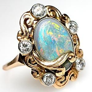 1000 Ideas About Vintage Opal Rings On Pinterest