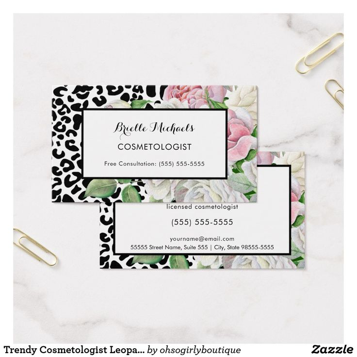 Cosmetology Business Cards - Glamorous Pink And Gold Lips Refer A ...