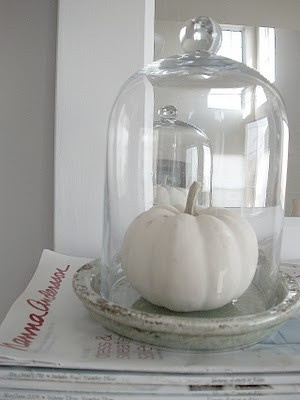 fall decor inspiration, white, silver, glass, light brown