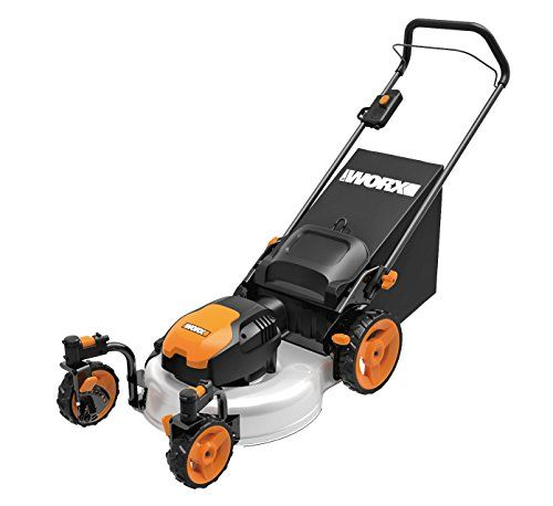 Worx Wg719 13 Amp Caster Wheeled Electric Lawn Mower, 19-Inch, 2015 Amazon Top Rated Riding Lawn Mowers & Tractors #Lawn&Patio