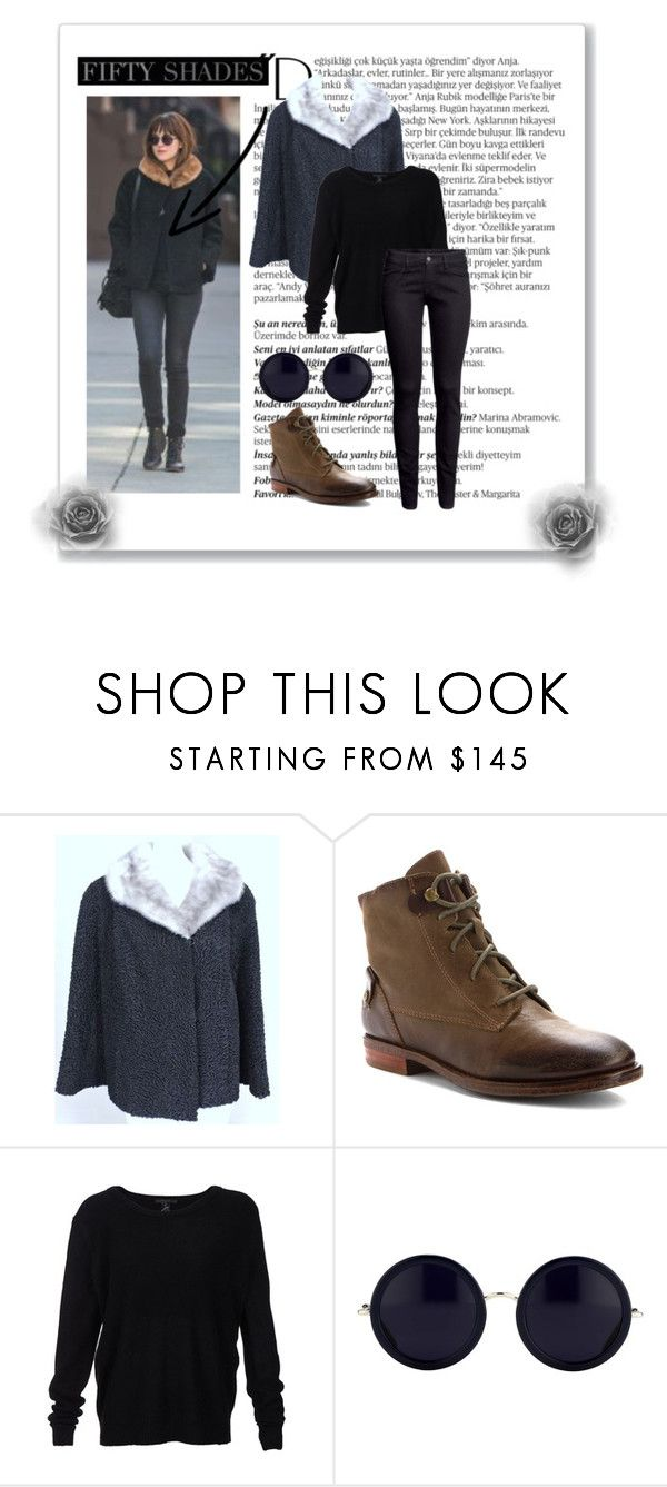 """""""Anastasia Steele winter outfit"""" by goddly-alpha ❤ liked on Polyvore featuring Balmain, OTBT, Scoop, The Row and H&M"""