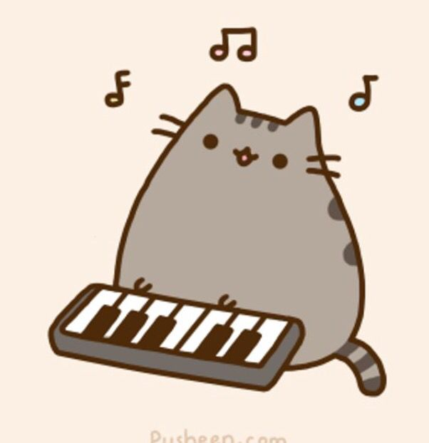 Pusheen the keyboard player