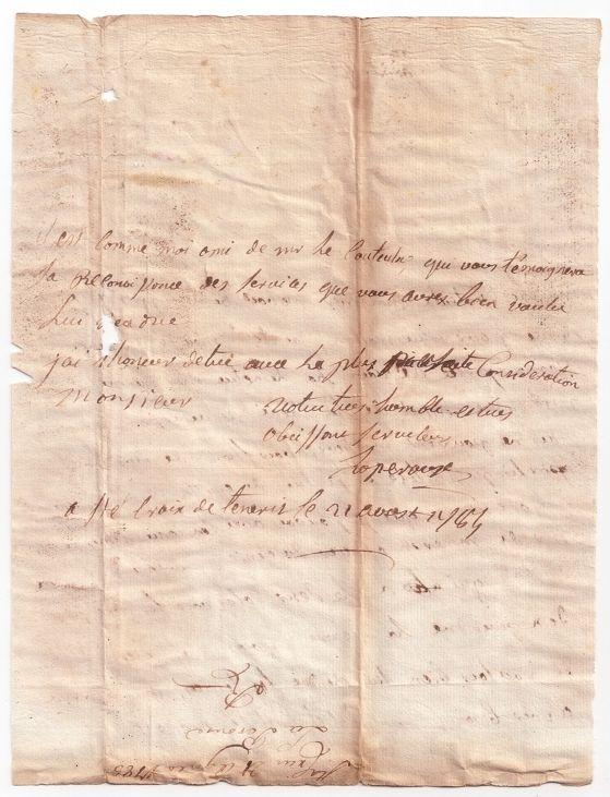 perouse+carta+03.Carta original de La Pérouse a Tomás Cólogan Valois (III)