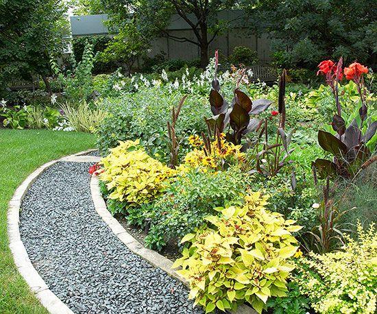 Idea carina per il mio nuovo giardino, magari con i passi giapponesi al posto del vialetto..
