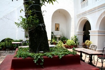 The Old Courtyard Hotel, Kochi - an old Portugese heritage hotel.
