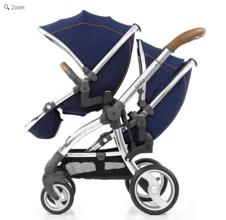 egg Gun Mirror Frame Tandem 3in1 i-Size Travel System - Regal Navy. See more at http://www.parentideal.co.uk/kiddies-kingdom---babystyle-egg.html or click on image to visit shop direct and view current prices.  #Egg #Babystyle #BabystyleEgg #EggPushchair #EggPram #Pram Babystyle Egg pushchair travel system for baby boys and girls with carrycot and car seat available. Stroller package.