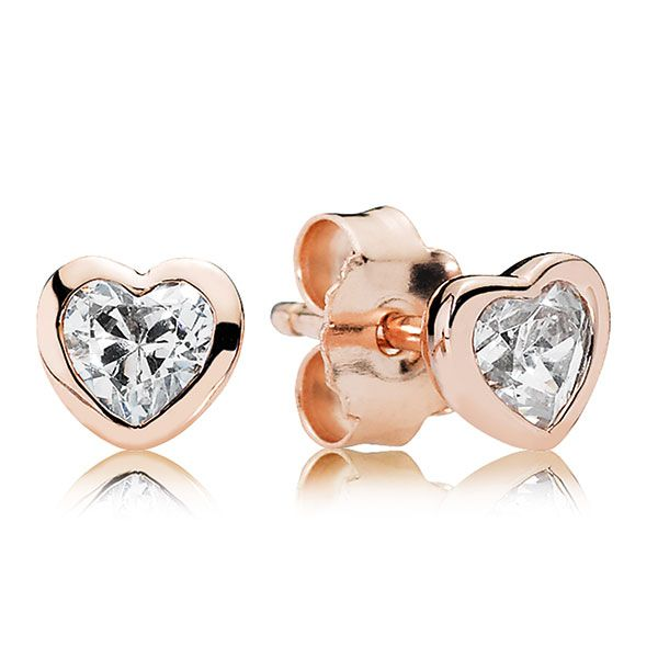 Delicate and soft in appearance, the innovative PANDORA Rose metal blend lends a fashionable and romantic touch to the beautiful hand-finished designs. These classic heart studs in tender pink are perfectly suited for everyday wear or special occasions alike - a great gift option for women of all ages.