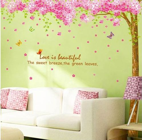 Best Living Room Removable Wall Stickers Images On Pinterest - Custom vinyl wall decals cherry blossom tree