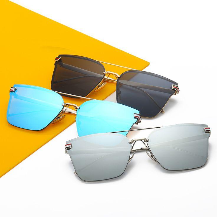 2017 Summer New Sunglasses for Women and Men Square Frame UV400 Mirror Sunglass HD Lens Eyewear Sun Glasses Gafas De Sol Hombre
