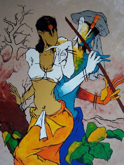 modern art | ... art gallery s artwork s contemporary indian art this is a kind of