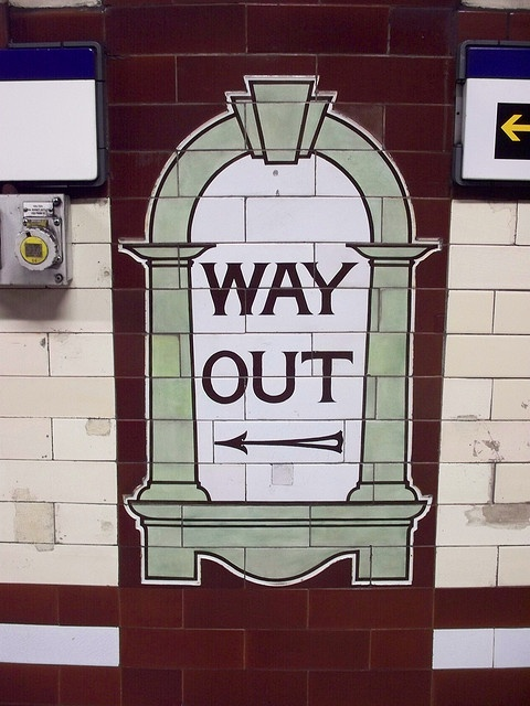 London Underground sign.