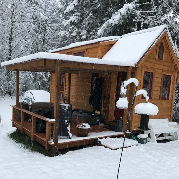 A peaceful sight, Adele's Tumbleweed Tiny House overlooks a gorgeous farm in Oregon. Read how she downsized and found happiness in Tiny House retirement.