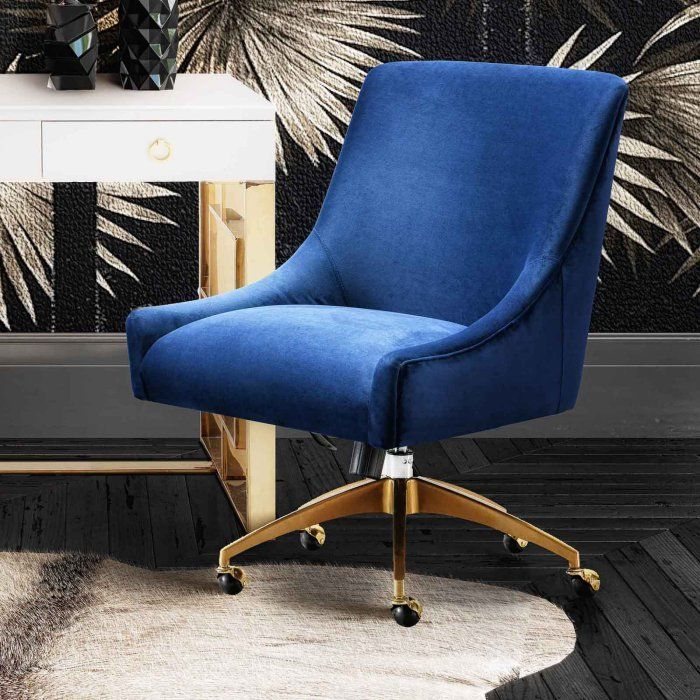 TOV Furniture Beatrix Swivel Upholstered Office Chair In