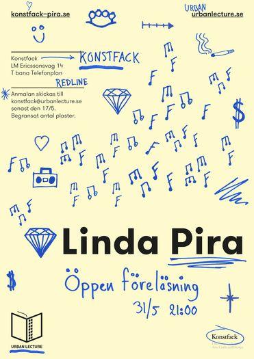 urban lecture linda pira poster by simon gustafsson