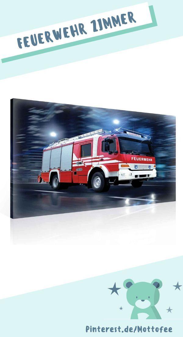 Leinwanddruck Feuerwehrauto Tolle Wand Dekoration Fur Das Kinderzimmer Kleiner Feuerwehr Fans In 2020 Feuerwehrauto Kinder Zimmer Feuerwehr