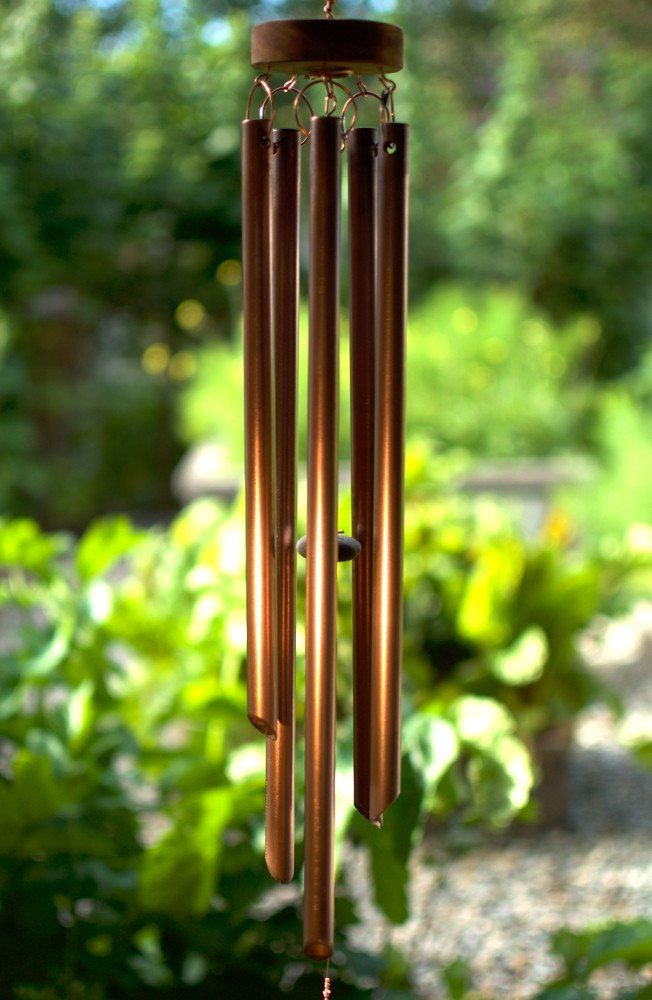 copper wind chime handcrafted windchimes beautiful