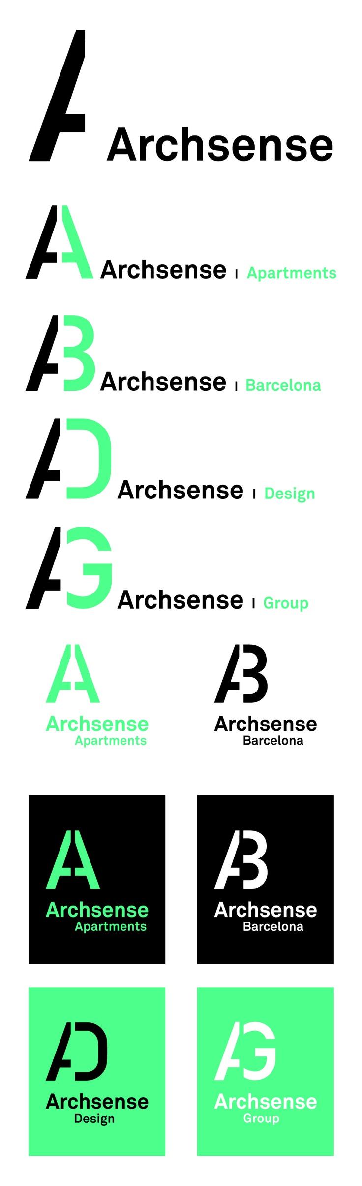 Propuesta de logo para Archsense. #logotipo #identidad #identidadcorporativa #diseño grafico #diseño #green #verde #corporate #design #corporatedesign #logo #identity #branding #propuesta #proposal