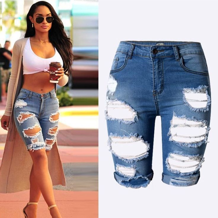 New Knee length Denim shorts