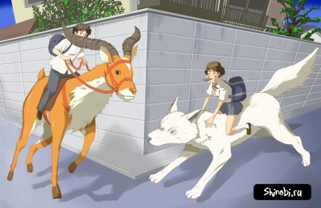 Studio Ghibli: Mononoke Hime (Принцесса Мононокэ) - Аниме картинки и Арт - Сайт любителей аниме - Аниме сайт