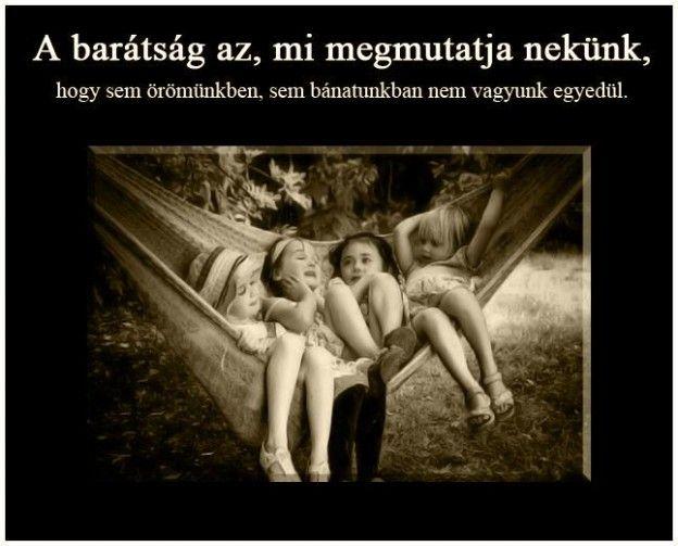 A barátság....