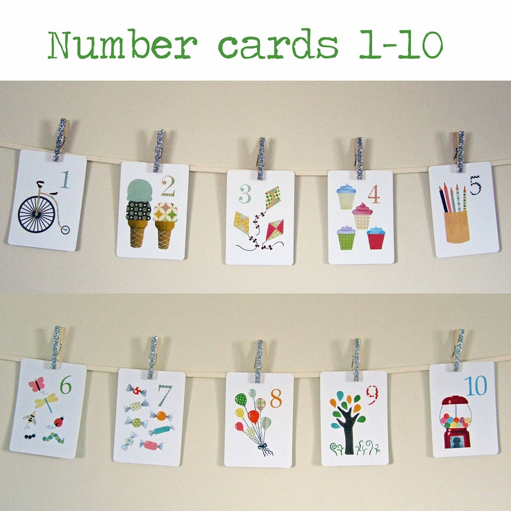 Alphabet and Number Nursery Art Print, Kids Wall Art, Alphabet and Number Flash Cards, 2 Sets of 5 x 7 Cards, Letter Art, Children Decor. $52.00, via Etsy.