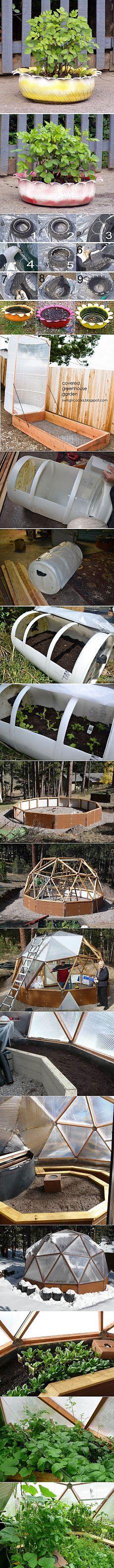 Как построить самим теплицу или создать клумбу. Интересные идеи для теплиц и клумб на участках..