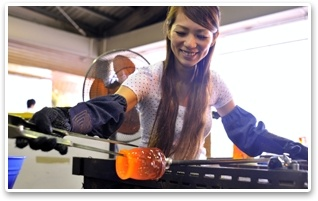 Experience Ryukyu Glass Crafting yourself at Okinawa Craft Village!