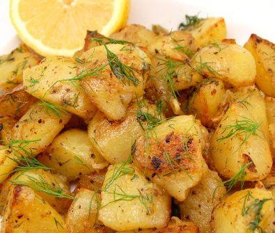 Πατάτες+φούρνου+με+πορτοκάλι+και+μέλι