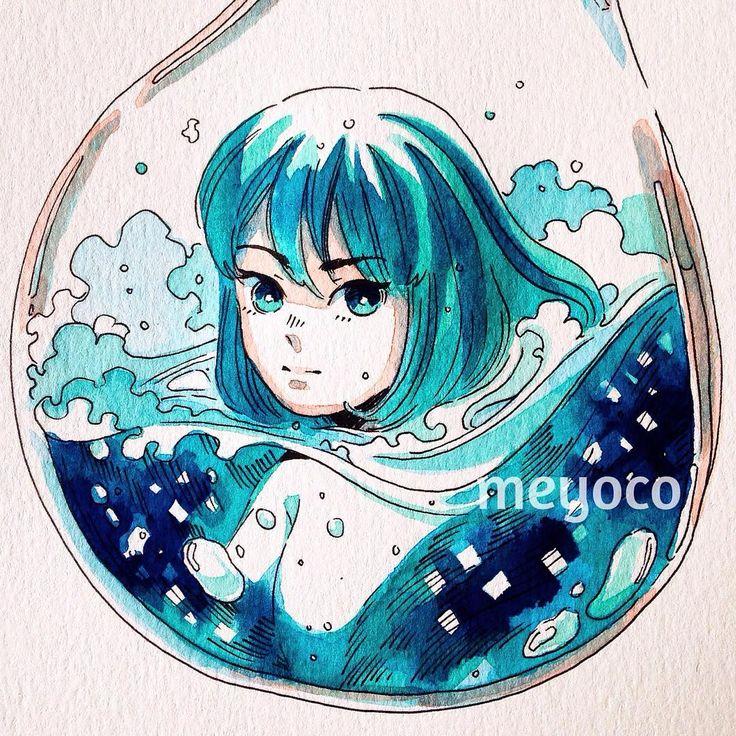 Ocean bubble (art tools: @pearlescentpink)