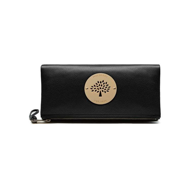 Daria Clutch in Black Spongy Pebbled | family | Mulberry