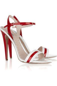Miu MiuMiu Twotone, Miumiu, Shoes Fetish, Patentleath Sandals, Leather Sandals, Patent Leathe Sandals, Miu Miutwoton, Miu Two Ton, Miutwoton Patentleath