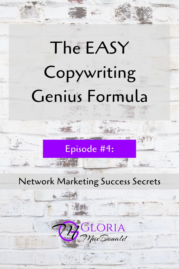 The EASY Copywriting Genius Formula in 2020 Network