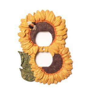 Sunflower Decor For Kitchen Sunflower Kitchen Decor Electrical Outlet Duplex Plate Cover Reviews