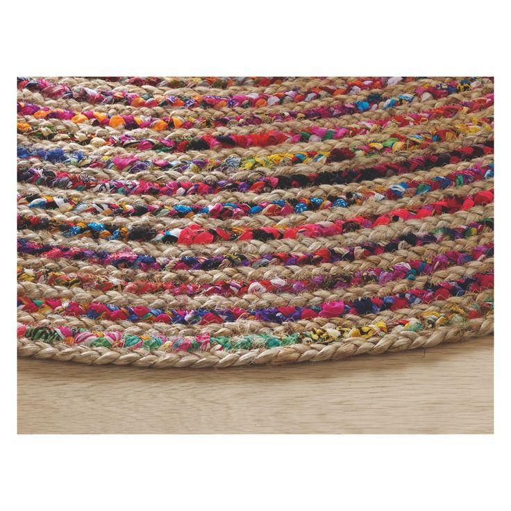 PAVAN Round Multi Coloured Woven Rug 200cm