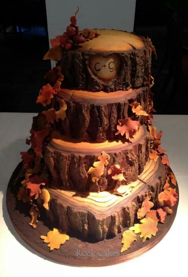 Fall wedding cake I just wanted to keep around