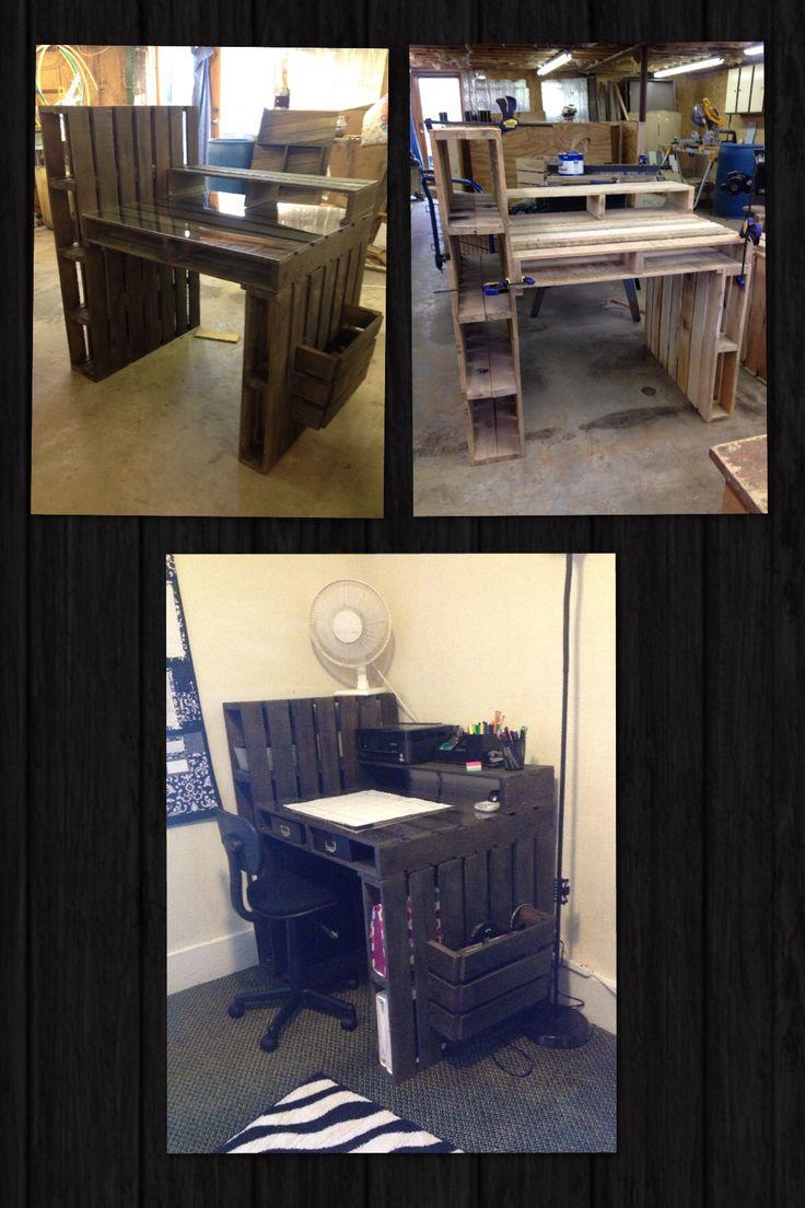 The pallet desk I built :)