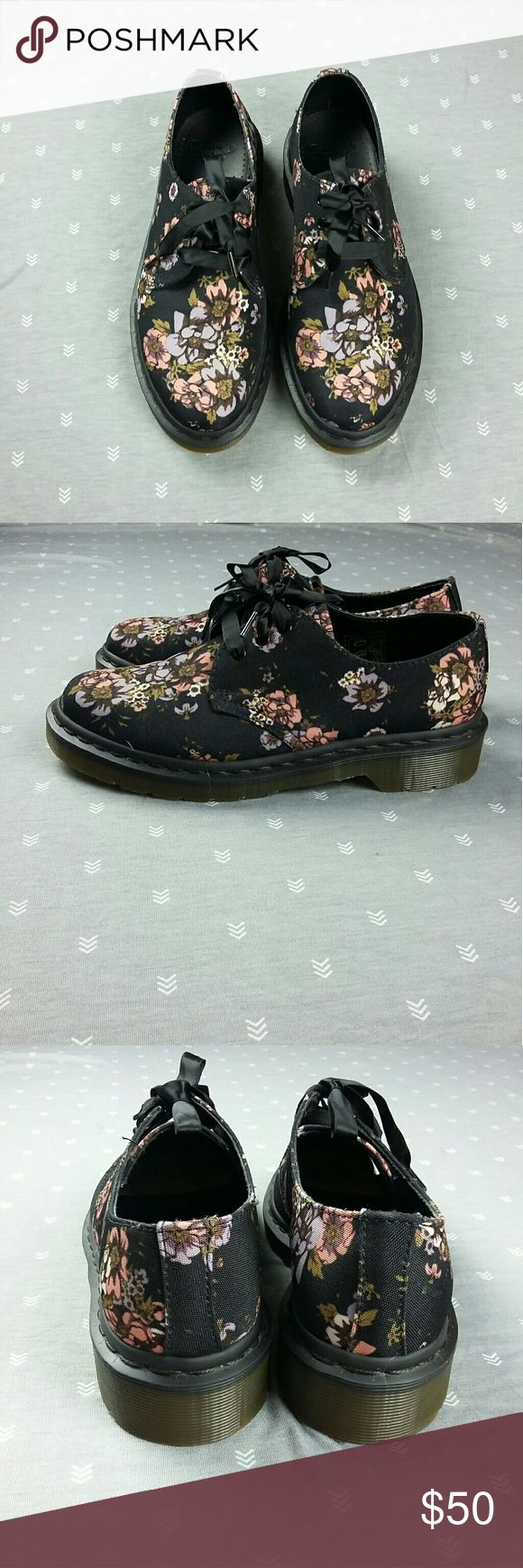 Doc Martens Floral Oxfords Bought on Posh but didn't fit me T.T  No lowballing/trades/holds/tryons Dr. Martens Shoes