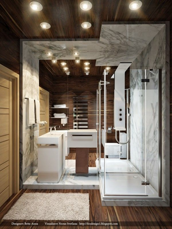 bathroom cool modern small bathroom with marble wall and laminate wooden floor shower together with glass sliding door and sink along with stand