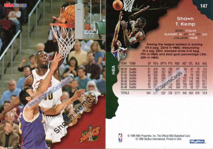 199697 Shawn Kemp, 2 Hoops cards 147, ItmN3414 Sonics