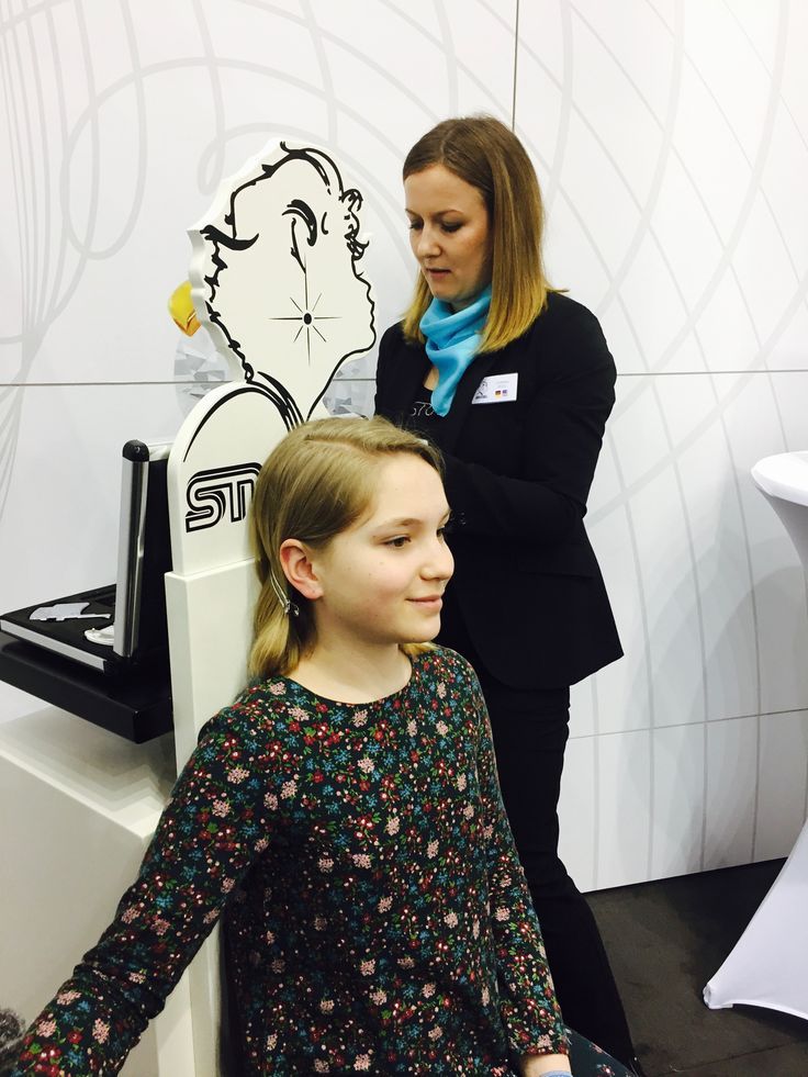 Excited to get her second lobe piercing at the Studex booth at Inhorgenta 2017 with the gentle Studex System 75 ear piercing system