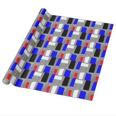 Abstract Tile Background Wrapping Paper