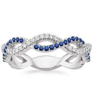 The Eternal Twist Diamond and Sapphire Ring #BrilliantEarth