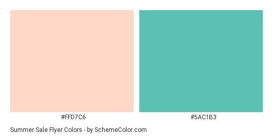 Summer Sale Flyer Color Scheme » Green » SchemeColor.com ...