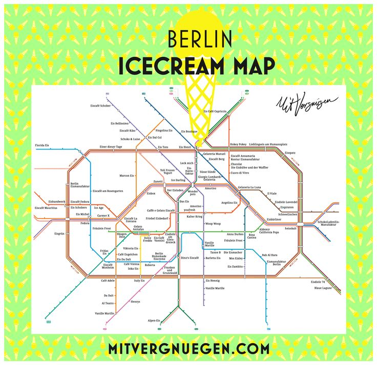 Die ultimative Karte, um sich ein mal durch ganz Berlin zu schlecken: die Berlin Icecream Map. Happy Sommer!